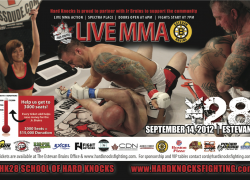 Hard Knocks 28 fight card revealed for Estevan, SK on Sep. 14
