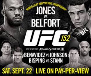 UFC 152 flash quotes from Jones, Belfort, Stann, Bisping and more