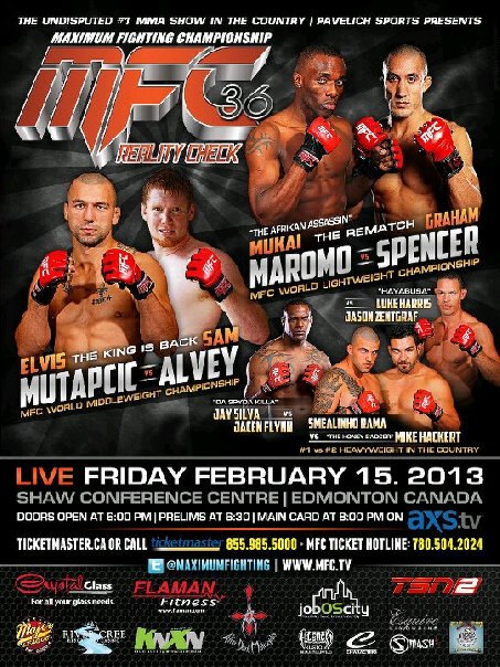 MFC 36: Reality Check – Edmonton Alberta