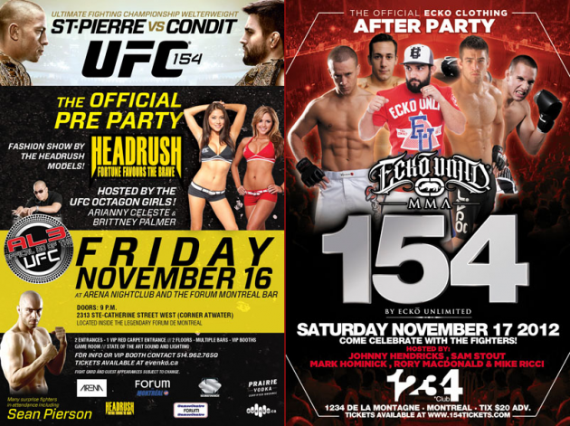Winners for tickets to the official UFC 154 pre and post-fight parties revealed
