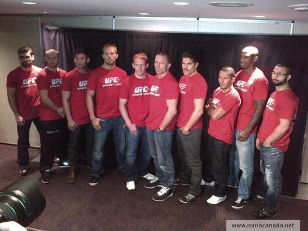 Introducing Team Canada line up at UFC 154 in Montreal (Pic)