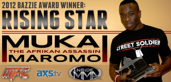 "Mukai Moromo claims Rising Star Award from AXS TV's ""Inside MMA"""