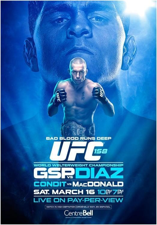 UFC 158 Montreal: GSP vs. Diaz, MacDonald vs. Condit and Ellenberger vs. Hendricks officially announced