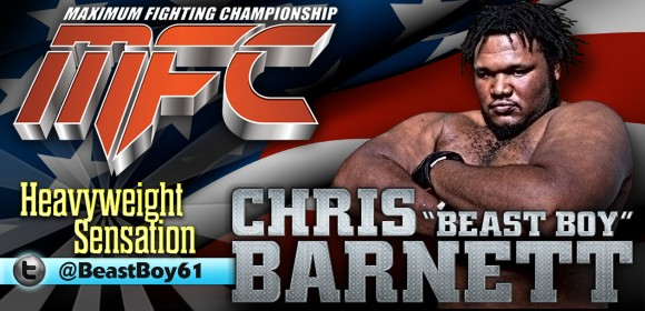 "Chris ""The Beast Boy"" Barnett signs with MFC Rama at MFC 37 May 10"