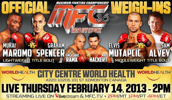 """MFC 36 """"Reality Check"""" live weigh in video and results"""