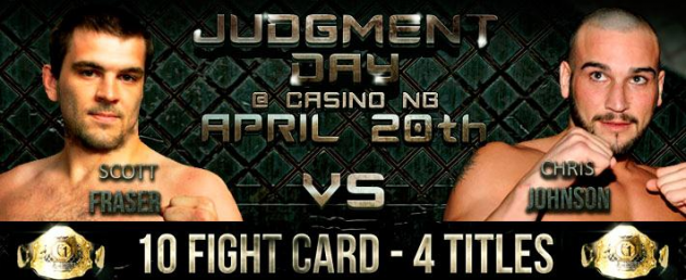 "Tickets on sale for Elite 1 MMA ""Judgement Day"" in Moncton, New Brunswick on April 20"