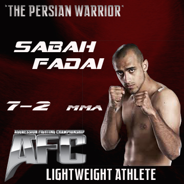 "Sabah ""The Persian Warrior"" Fadai signs multi fight deal with AFC"