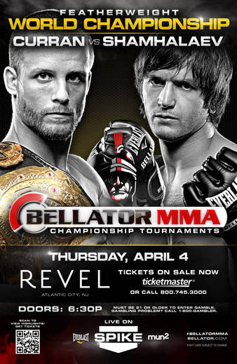 Bellator 95: Curran vs. Shamhalaev preview for April 4 in Atlantic City, New Jersey