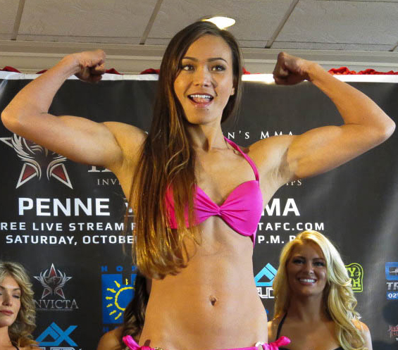 "Invicta FC 5 weigh in results for ""Penne vs. Waterson"""