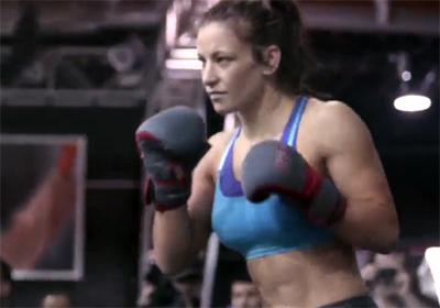 Video: Miesha Tate open media workout highlights and scrum interview for TUF 17 Finale
