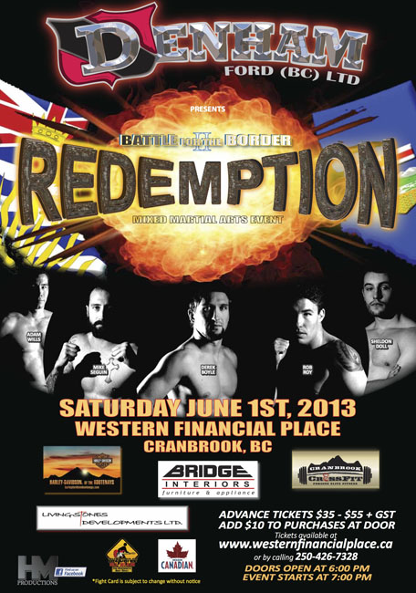 "Live this Saturday! Battle for the Border 2 ""Redemption"" in Cranbrook, B.C."