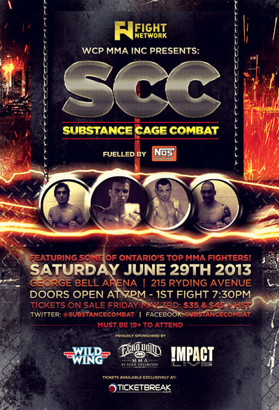 "Contest: Win a pair of tickets to live MMA ""Substance Combat 1.0"" on June 29 in Toronto"