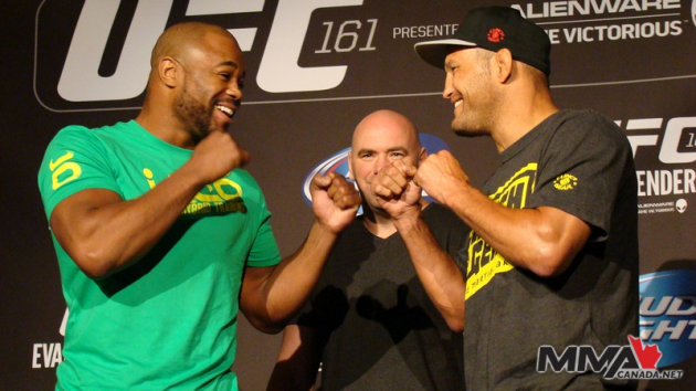 "UFC 161 ""Henderson vs. Evans"" Press Conference Staredown Photos"