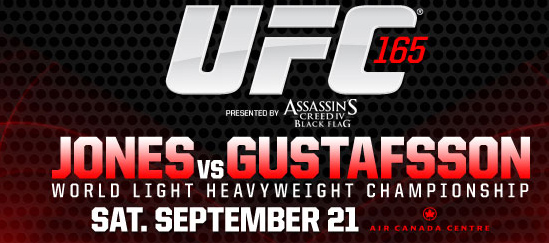 """Tickets on sale this week for UFC 165 """"Jones vs. Gustafsson"""" in Toronto"""