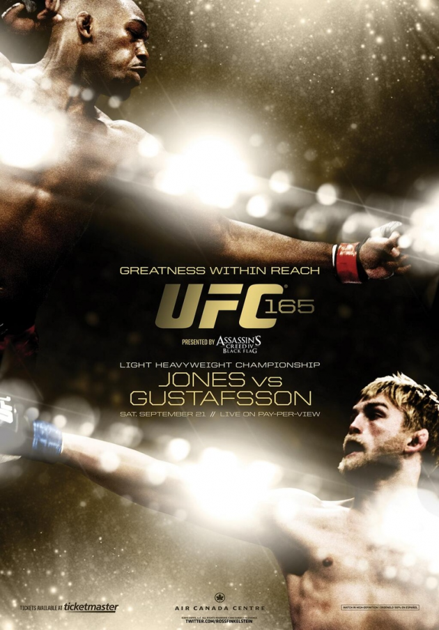 Pic: UFC 165 poster for 'Jones vs. Gustafsson' on Sept. 21 in Toronto