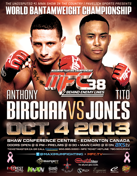 Maximum Fighting Championship fans vote Birchak vs Jones title fight for main event at MFC 38