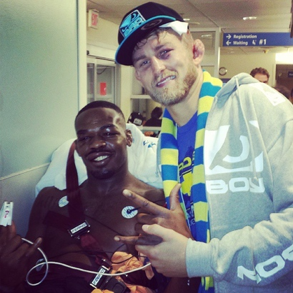 Pic: Jon Jones and Alexander Gustafsson in hospital after fights