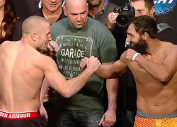 """UFC 167 """"St-Pierre vs Hendricks"""" weigh in results and video replay"""