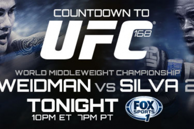 Find out how and where to watch UFC 168 'Silva vs Weidman 2' tonight