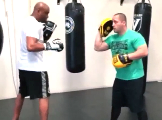 Video: Anderson Silva quick return to the gym begins hitting mitts