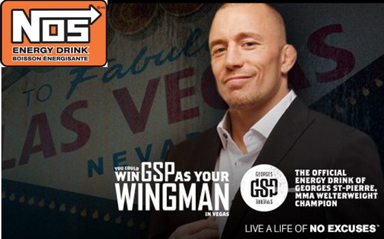 NOS® Energy Drink wants you and a friend to hang out with UFC icon Georges St-Pierre