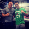 (Pic) Georges St-Pierre bumps into Hollywood actor Mario Lopez while training at Wild Card in LA