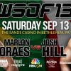 World Series of Fighting 13 announces Moraes vs Hill for Sept 13