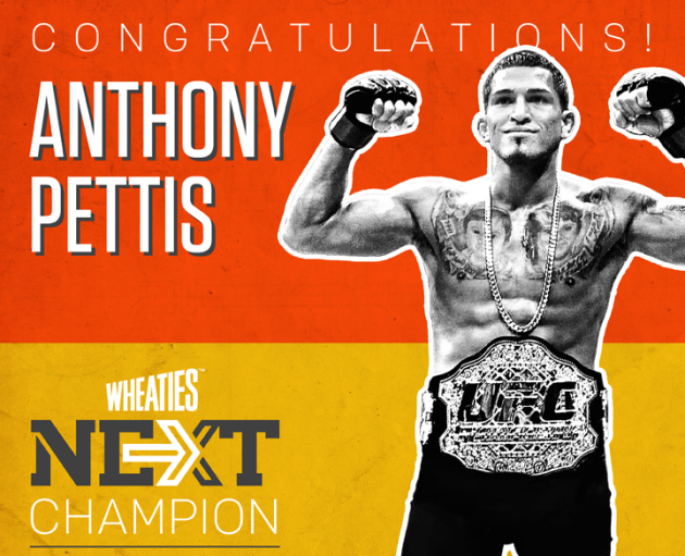 Pettis wins Wheaties NEXT Challenge and becomes first MMA champion to appear on the iconic cereal box