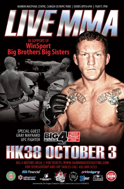 Hard Knocks Fighting 38 returns October 3rd to Calgary with special UFC guest