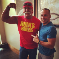 Quick Pic: Georges St-Pierre and Hulk Hogan have breakfast