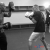 Quick Pic: Michael Imperato warming up with long time boxing coach Tony Wallace