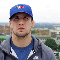 Quick Pic: Rory MacDonald representing the TDOT with a Toronto Blue Jays cap