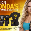 "Design a UFC Walkout T-shirt to be worn by Ronda Rousey and win an ""Ultimate UFC Pack"""