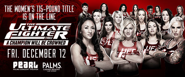 A champion will be crowned at The Ultimate Fighter Finale on Dec 12, Tickets on sale Friday Oct 24
