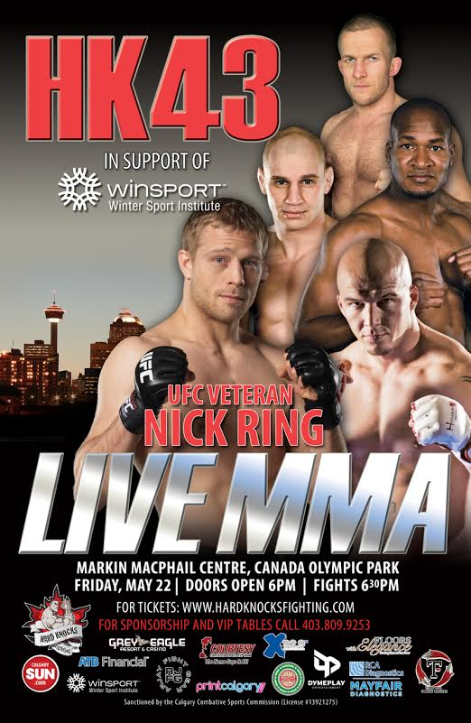 Tickets on sale for Hard Knocks Fighting 43 in Calgary on May 22