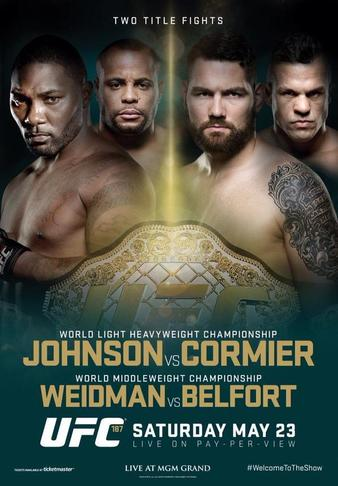 UFC 187: Johnson vs. Cormier results