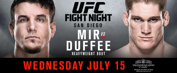 Heavyweights collide as UFC returns to San Diego on July 13