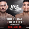 Latest UFC Fight Night 74 'Holloway vs. Oliveira' lineup on Aug 23 in Saskatoon