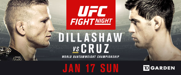 UFC bantamweight champion TJ Dillashaw collides with Dominick Cruz in Boston