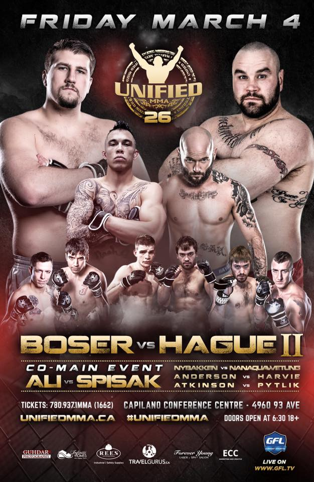 Unifed MMA Releases Full Lineup for Unified 26 on March 4