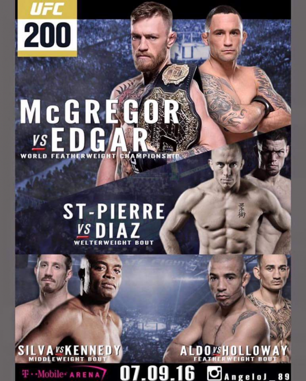 Quick Pic: Leaked UFC 200 poster featuring Georges St-Pierre?