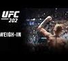 UFC 202: Official Weigh-in Video Replay featuring Diaz and McGregor