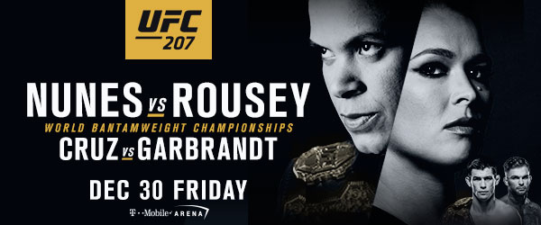 Official Press Release: Ronda Rousey returns to the UFC Octagon on Dec. 30