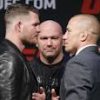 UFC Press Conference: Bisping and St-Pierre go face to face in heated video replay