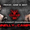 Unified MMA 31 Headliners Announced for June in Edmonton, Alberta