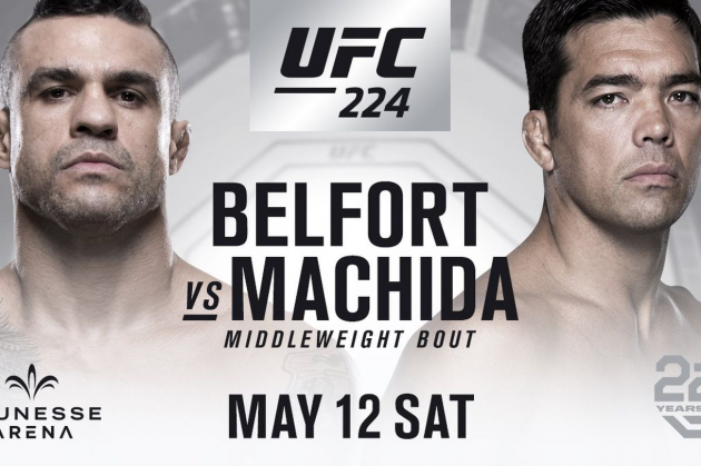 Vitor Belfort vs Lyoto Machida official for UFC 224 on May 12 in Rio