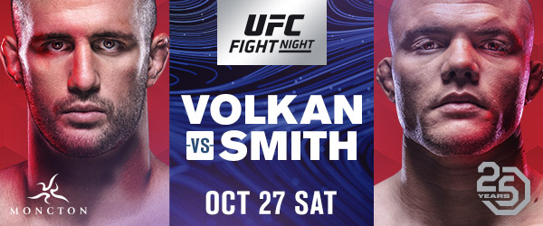 UFC debuts in Moncton, New Brunswick with clash between light heavyweight knockout artists