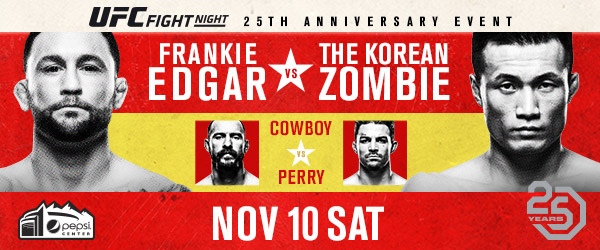 UFC Celebrates 25th Anniversary with Action-Packed Card Headlined by Frankie Edgar vs. Chan Sung Jung