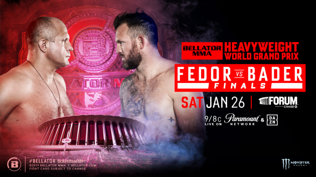 Fedor Emelianenko & Ryan Bader Collide for the Bellator World Heavyweight Championship Inside The Forum on Jan. 26