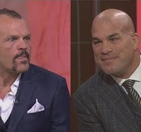 Video: Chuck Liddell, Tito Ortiz forced to exchange compliments while promoting Nov. 24 showdown